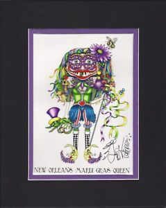 Details about MARDI GRAS QUEEN, CARNIVAL VOODOO DOLL , Jamie Hayes, NEW  ORLEANS, SIGNED