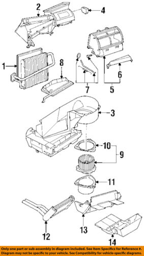 Car & Truck Air Conditioning & Heater Parts Saturn GM OEM 93-99 ...