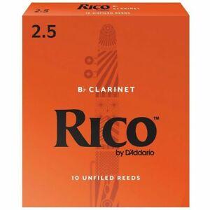 Rico BB Clarinet Reeds Strength 2.5 10-pack