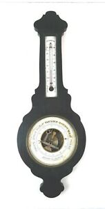 Antique 19th C Holosteric Barometer Thermometer Banjo Style France Parts Repair