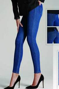 Discipliné Leggings Donna Matignon Denim Jeans In Cotone Con Tasche Sul Retro Art Minimal Bien Vendre Partout Dans Le Monde