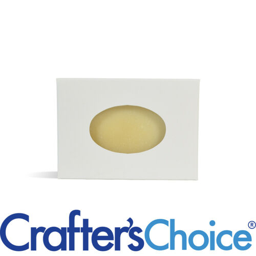 25 Crafter/'s Choice White Oval Window Soap Box  Homemade Soap Making Supplies