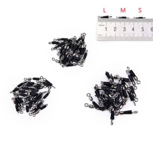 30x Kugellagerwirbel Solide Ringe Angeln Verbindungshaken CJ