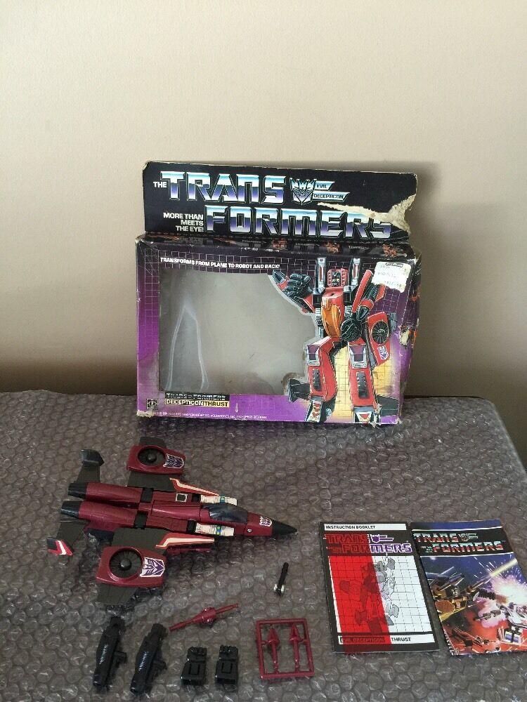 Empuje Hasbro G1 Transformers 100% Suelto Completo-Con Caja Look