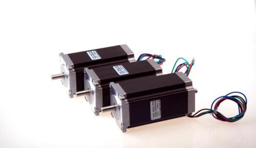3pcs LONGS Nema 23 stepper motor 425oz.in 3NM bipolar 3.0A dual shaft 4 leads