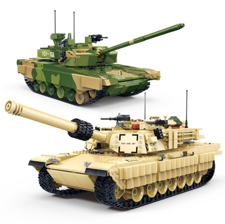 Bausteine Gudi Militär Panzer M1A2 Abrams Main Battle Tank ZTZ-99A Spielzeug