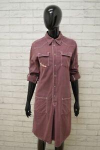 Vestito-DIESEL-Tajer-Donna-Taglia-M-Abito-Dress-Cotone-Tubino-Camicia-Lunga