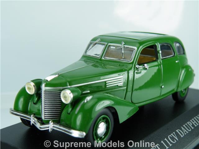 BERLIET 11CV DAUPHINE 1939 CAR 1 43RD SIZE MODEL 4 DOOR VERSION GREEN R0154X{ }