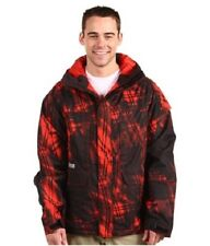 NEW Burton ARCTIC Snowboard JACKET/ L LARGE Mens / Red Black Orange Ski Poacher