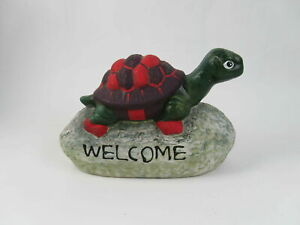 Vintage-Porcelain-Covered-Welcome-On-A-Rock-Turtle-Home-Decoration
