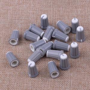 20x-Plastic-Control-Knob-Insert-Type-12mmDx19mmH-6mm-D-Shaft-Grey-New