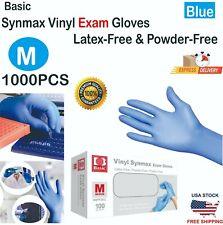 Basic 1000pcs Blue Vinyl Synmax Exam Gloves Latex Free Amp Powder Free M Size