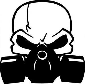 Image Is Loading Skull Gas Mask Decal Sticker JDM Laptop Chevy