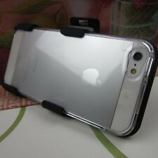 Clear Hard Impact Cover Case+Belt Clip Holster for Apple iPhone SE 5 5s