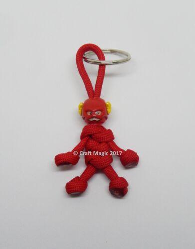 Fait à la main Super-héros Flash Porte-clés Buddy Keychain Paracord Buddy