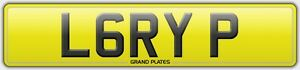 L6-RYP-LARRY-P-PRIVATE-REGISTRATION-CHERISHED-NUMBER-PLATE-CAR-REG-NO-FEES