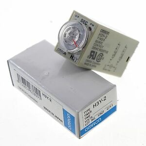 24VAC-10-Minutes-H3Y-2-Power-On-Time-Delay-Relay-Solid-State-Timer-DPDT-No-Base