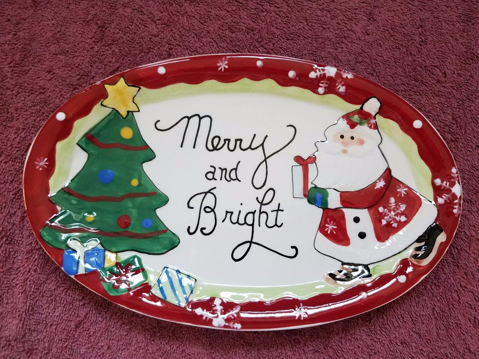 Addobbi Natalizi Wald.Fitz Floyd Holiday Plate Merry And Bright Free Shipping Christmas