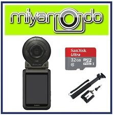Casio Exilim FR100 Action Camera + Sandisk Ultra MicroSD 32GB + Monopod (Black)