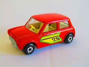 Matchbox Superfast No 29 RACING MINI Empty Repro Box  style  G