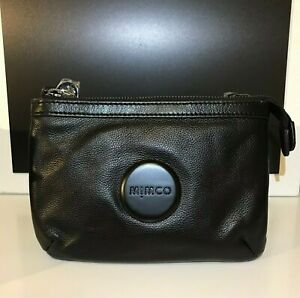 MIMCO Hip Bag Couch Black Matte Leather Black Hardware BNWT Dust bag RRP $199