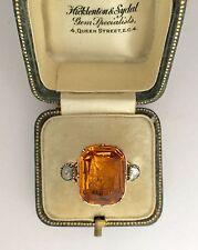 A Truly Magnificent Georgian 8ct Citrine & Rose Cut Diamond Ring Circa 1800's