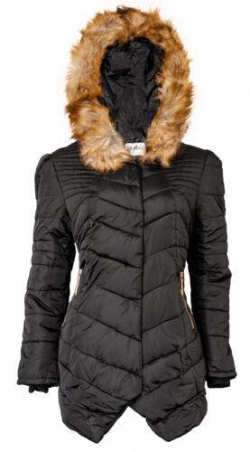 Doudoune Avec Capuche DP819 Parka Manteau Vêtement Chaud Femme Veste Hiver Noir
