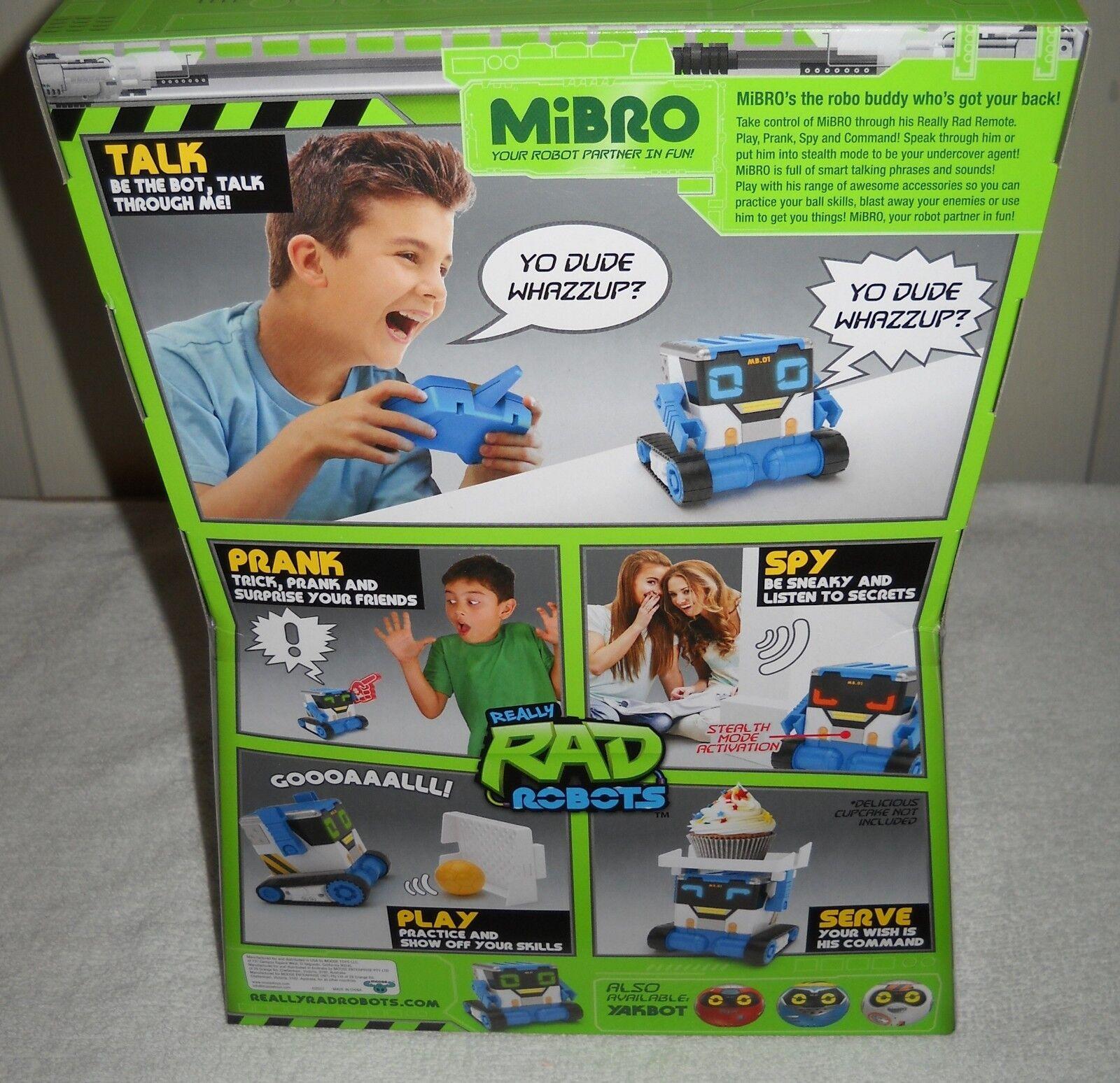 10042 NRFB Moose Toys Really Rad Rad Rad Robots Mibro Interactive Remote Control Robot df40bb