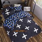 Blue Cross Single/Double/Queen/King Bed Quilt/Doona/Duvet Cover Set Pillow Case