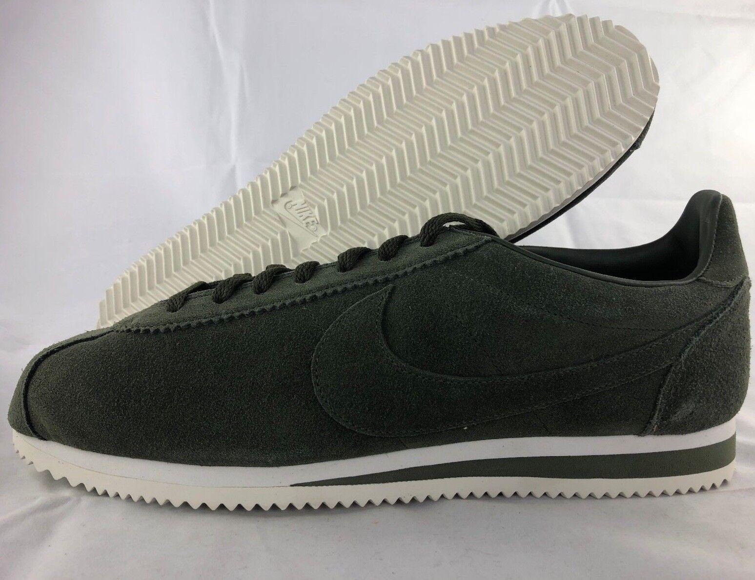 Nike Cortez Classic SE Cargo Khaki Green Olive Suede White 902801-300 Uomo 8-12