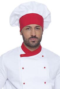 Cappello Cuoco Chef Uomo Donna Berretto da Lavoro Cucina Ristorante ... e78c94a4092c