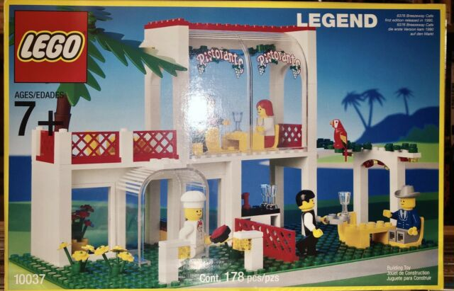 NEW LEGO 10037 Legend Breezeway Cafe Rare Vintage SEALED a Reissue Of 6376