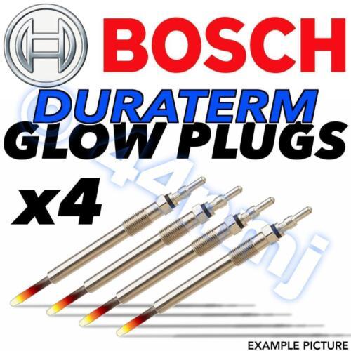 4x BOSCH Duraterm Diesel D Heater Glow Plugs VAUXHALL OPEL CORSA C 1.3  03--/>07