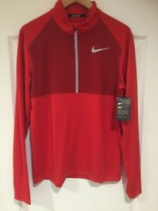 Nike-Dry-Element-Long-Sleeved-Running-Top-Mens-Size-L-Red-BNWT