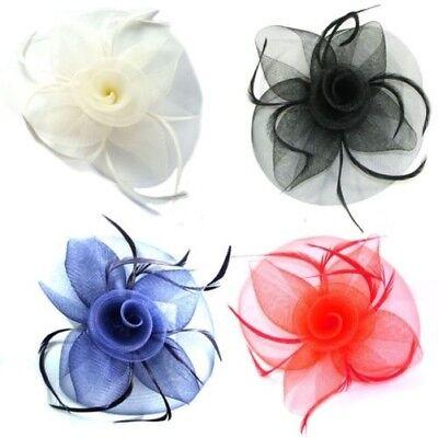 Feather Fascinator Beak Clip /& Brooch Pin Corsage Wedding Hair Accessories