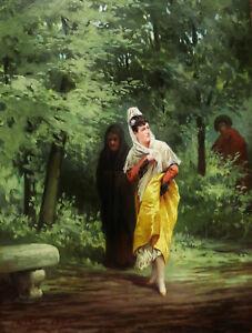 Francisco Javier Ortego Y Vereda Peintre Espagnol Tableau Scene Galante Espagne Ebay