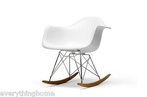 White-Eiffel-Style-Rocker-Rocking-Chair-Adult-Size-Wing-Plastic-Shell