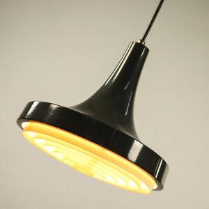 Philps-Pendel-Leuchte-Trompete-Haenge-Lampe-grau-Vintage-Pendant-60er-70er-1-2
