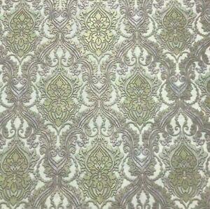 Wallpaper white grey brown gold metallic damask wallcoverings textured vintage
