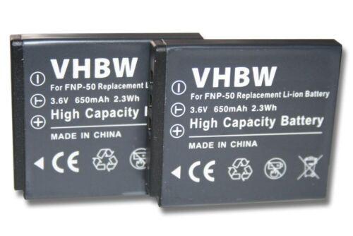 2x Batería para FUJI FUJIFILM NP-50 NP50 FINEPIX F50fd Li-Ion