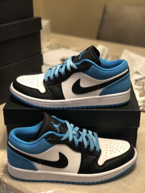 Nike Air Jordan 1 Low Se Black Laser Blue White Men Size 13