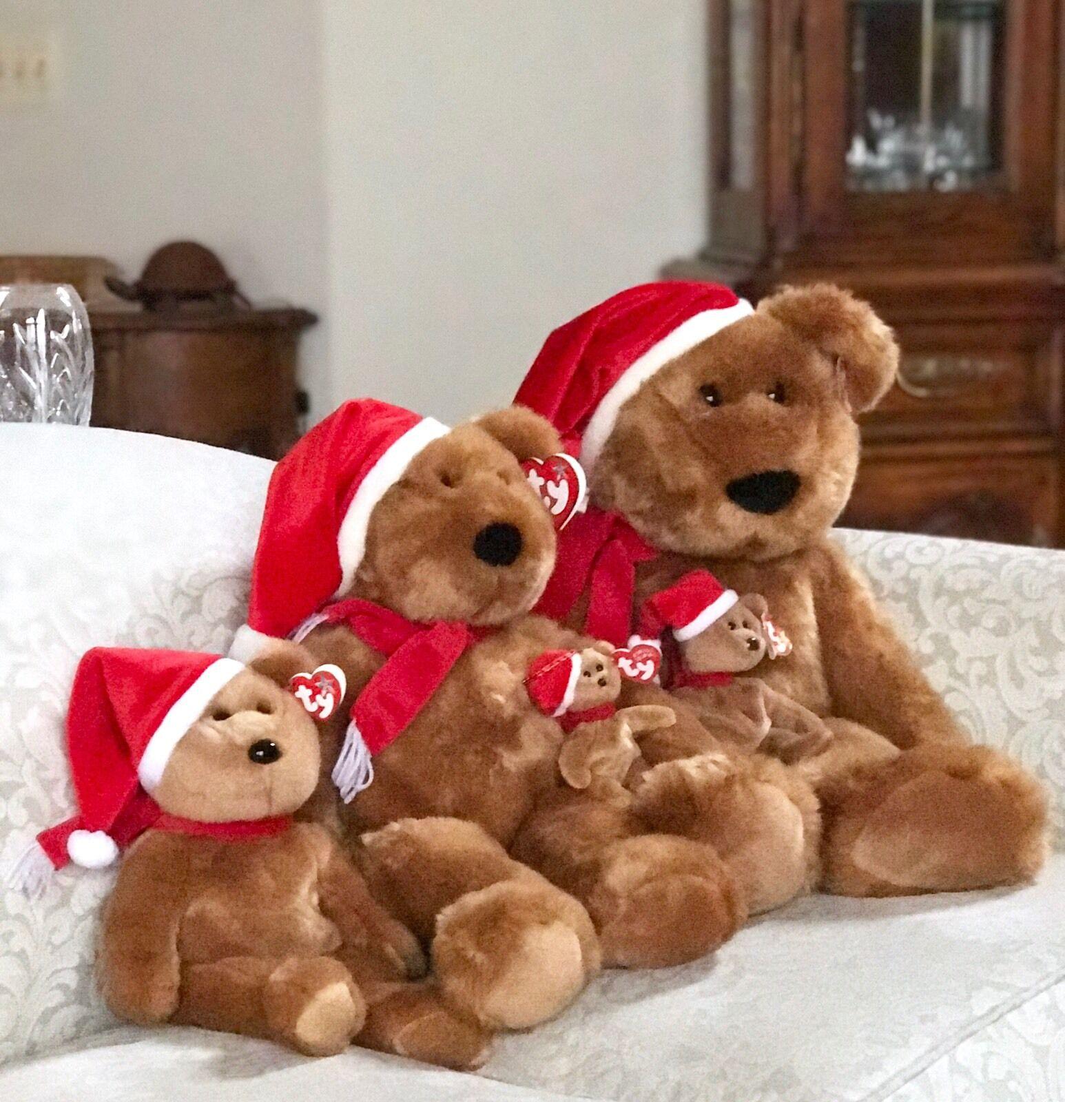 NEW MINT TY Five (5) Sizes 1997 HOLIDAY TEDDY BEANIE BABIES   BUDDIES   JINGLES