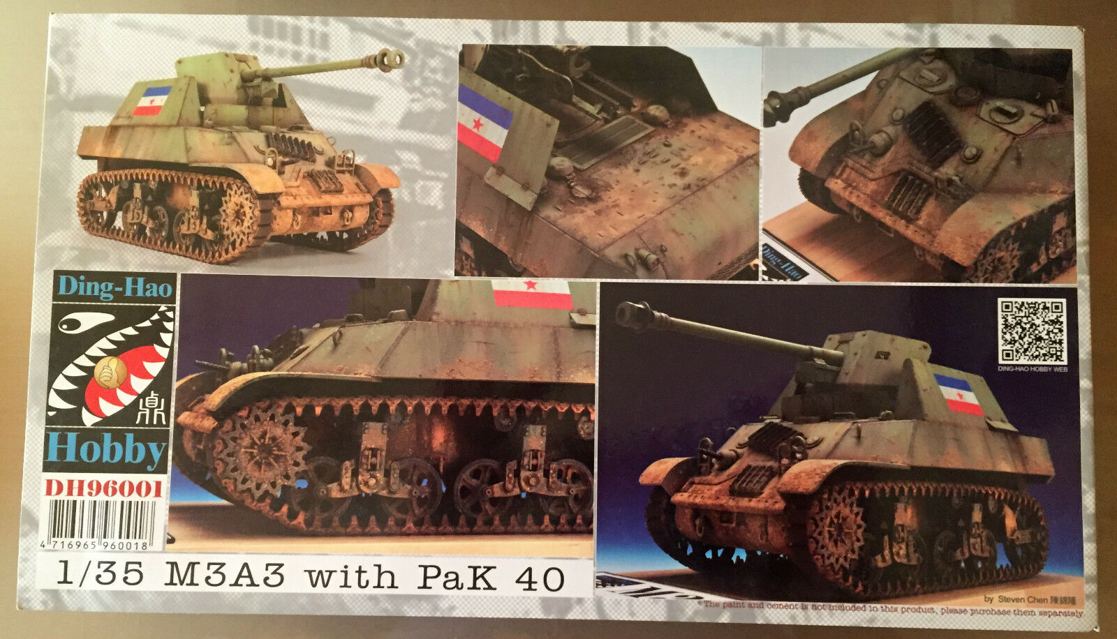 DING-HAO HOBBY DH96001 - 1 35 M3A3 with PaK 40 - NUOVO