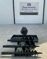 New Mower King Skid Steer Hydraulic Auger Attachment Post Hole Digger Bobcat Cat