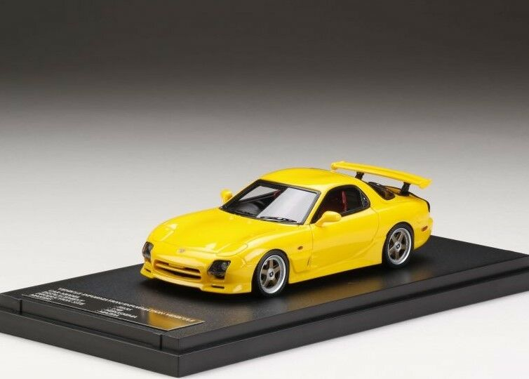 MARK43 PM4367CY 1 43 43 43 Mazda RX-7 FD3S Mazda Speed A Spec GT Wing Sunburst Yellow e00473