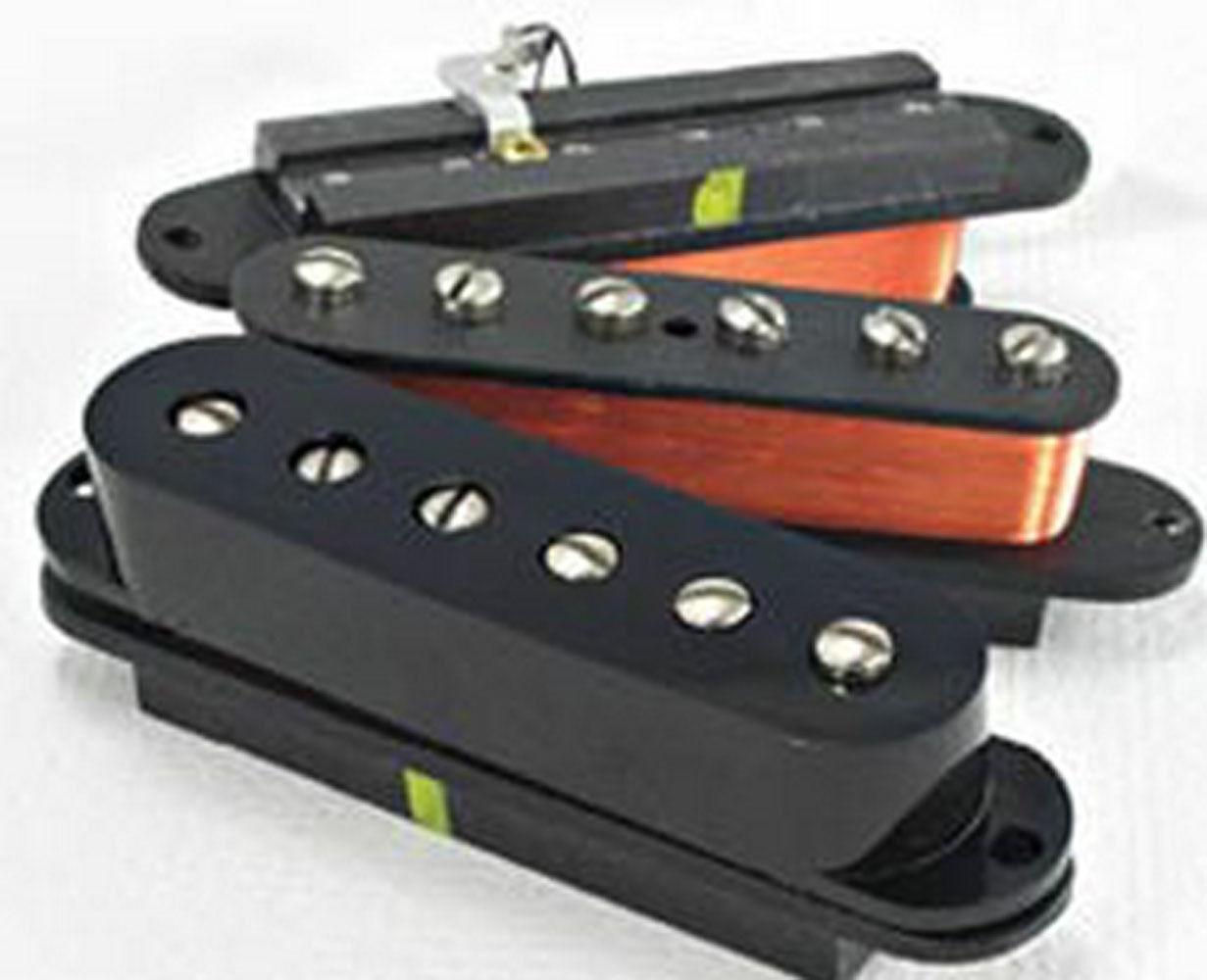 Neu Lindy Fralin Stahl Polig SP43 Strat Tonabnehmer Set von 3 Schwarz P90 Ton