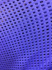 100% Royal blue laser cut nylon. 60 inch. fabric by the yard.