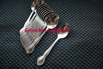"""US SELLER  12 ELEGANCE DEMITASSE SPOONS 4/"""" NEW 18//0 STAINLESS FREE SHIP US ONLY"""