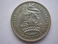 1935 George V silver shilling, NEF.