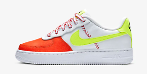 outlet for sale most popular good Details about Nike Air Force 1 LV8 SPRB White/Volt-Team Orange-Black (GS)  (BQ6978 100)